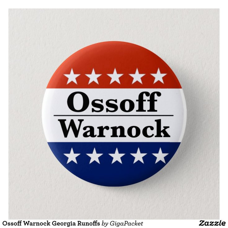 Ossoff Warnock Georgia Runoffs Button