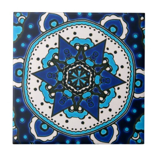 Ottoman Islamic Tile Design With Geometry