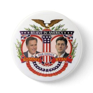 Our Choice: Romney / Ryan Pinback Button