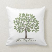 Our Family Tree Pillow | Zazzle