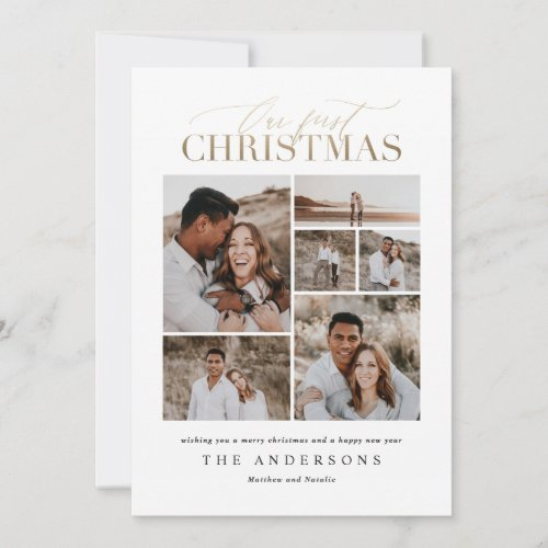 Our first Christmas multi photo watercolor card