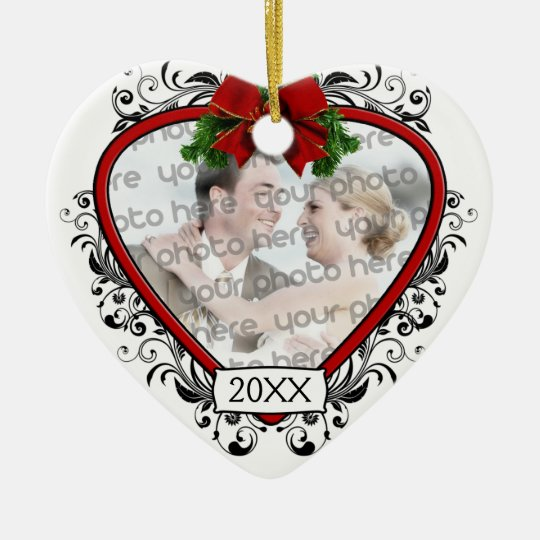 Our First Christmas Wedding Photo Ornament  Zazzle