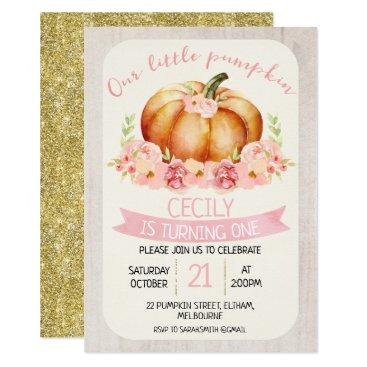 Our little pumpkin kids birthday party invitation