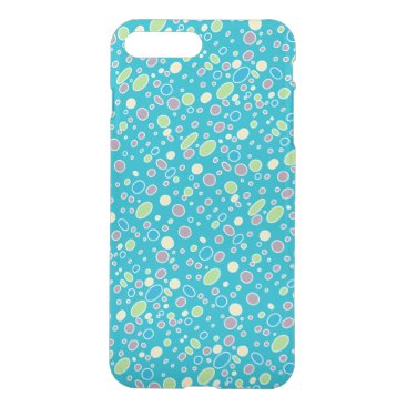 Oval polka dots pink green yellow blue iPhone 8 plus/7 plus case