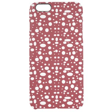 Oval polka dots white clear iPhone 6 plus case