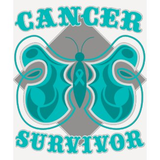 Ovarian Cancer Survivor Butterfly shirt