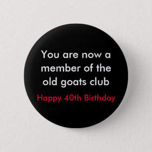 40th birthday sayings accessories