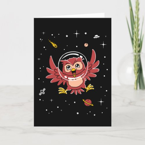Owl Animals In Space Card
