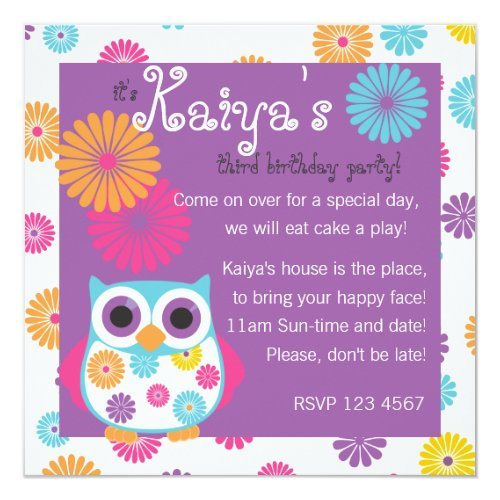 Owl on the Bright Side Invitation