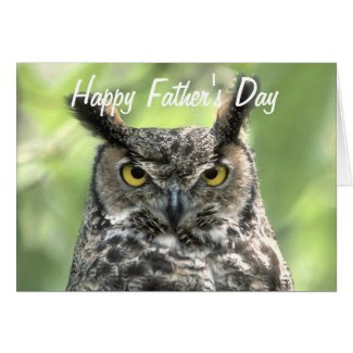 Owl Photograph Happy Father's Day Greeting Card