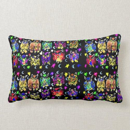 Owl Stars moons Lumbar Pillow