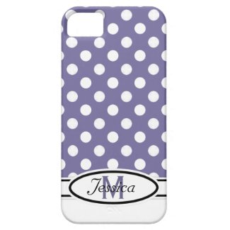 P & W Polka-dot Monogram iPhone 5 Case