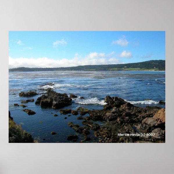 Pacific Grove on the Rocks zazzle_print