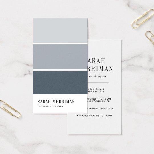 Paint Chip Editable Color Interior Designer Business Card Zazzle Com