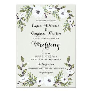 Painted Anemones Fl Wedding Invitation