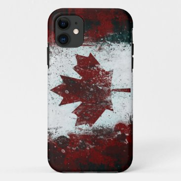 Painted Canadian Flag iPhone 11 Case