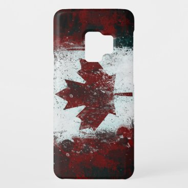 Painted Canadian Flag Case-Mate Samsung Galaxy S9 Case