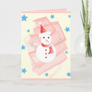 Painted snowman - Card card