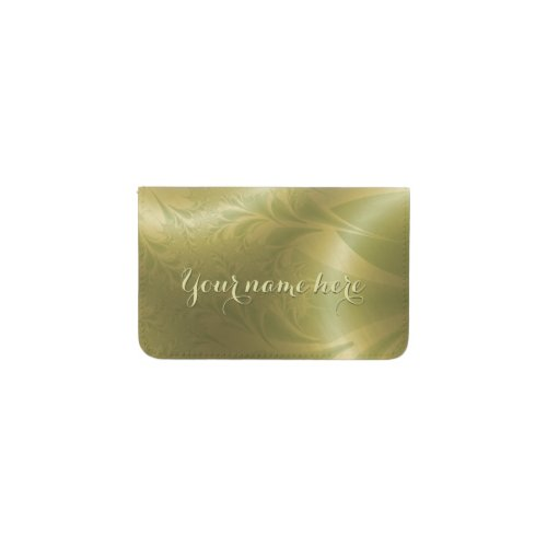 Paisley Personalized Business Card Holder