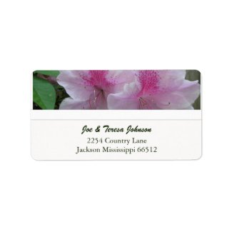 Pale Pink Azaleas Address Labels