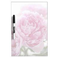 pale pink peonies dry-erase board