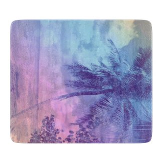 Palm in Purple Shades Cutting Boards
