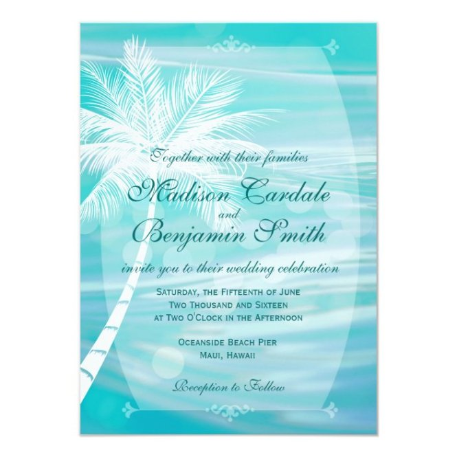 Palm Tree Beach Destination Wedding