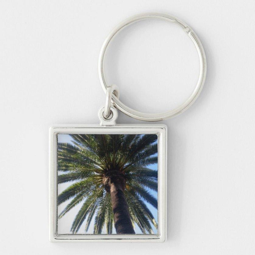Palm Tree California Beach Custom Keychain