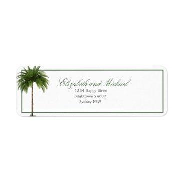 Palm Tree Elegant Modern Chic Wedding Label