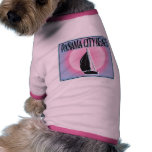 Panama City Beach Airbrushed Look Boat Sunset pet clothing