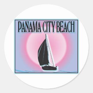 Panama City Beach Airbrushed Look Boat Sunset Sticker