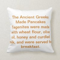 Pancake History Pillow | Zazzle