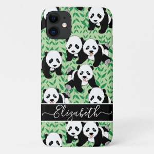 Panda Bears Graphic Personalize iPhone 11 Case