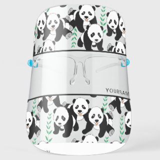Panda Bears Graphic Personalize Face Shield