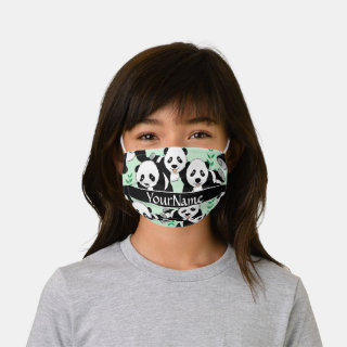 Panda Bears Graphic Personalize Kids' Cloth Face Mask