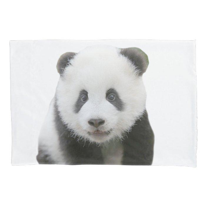 panda face pillow case zazzle com