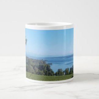 Panoramic View over Lake Constance 20 Oz Large Ceramic Coffee Mug