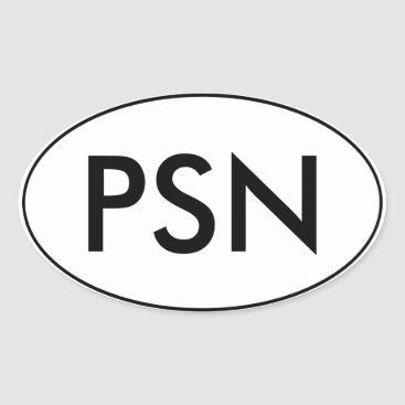 PantsuitNation Oval Car Sticker | PSN | Pantsuit