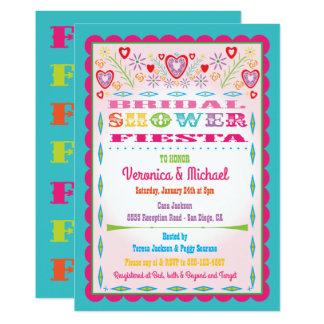Papel Picado Mexican Fiesta Bridal Shower Card