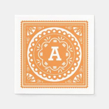 Papel Picado Paper Napkins - Orange