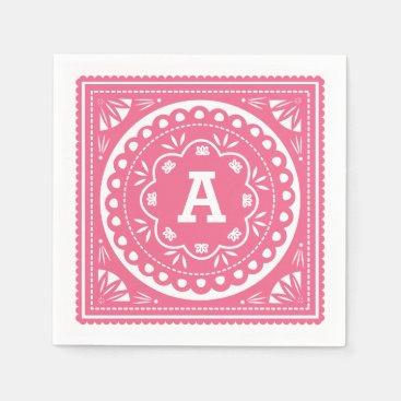 Papel Picado Paper Napkins - Pink