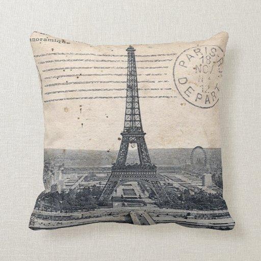 Paris Eiffel Tower Throw Pillow  Zazzle