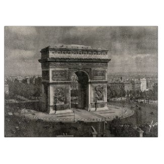 Paris vintage Arc de Triomphe 1943 Cutting Board
