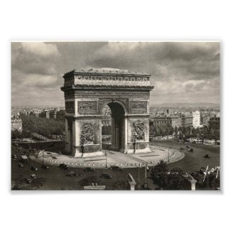 Paris vintage Arc de Triomphe 1943 Photographic Print