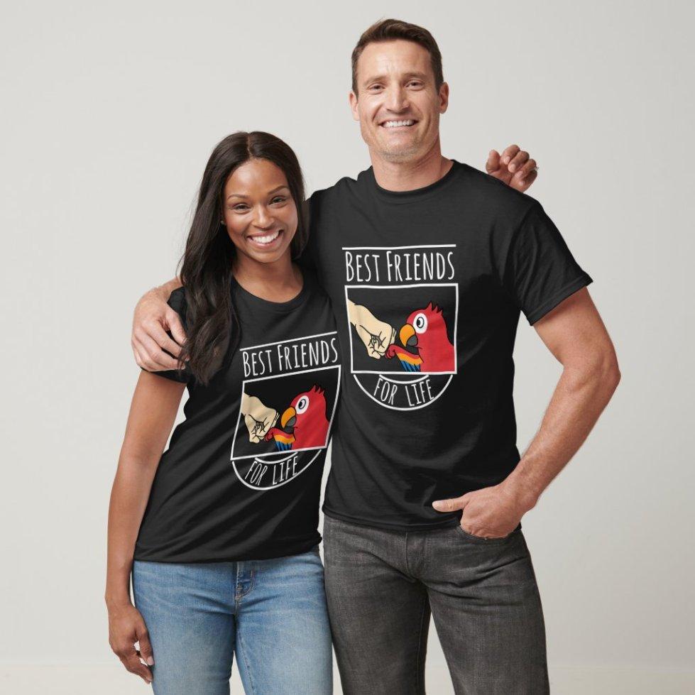 Parrot Best Friends For Life Funny Bird T-Shirt