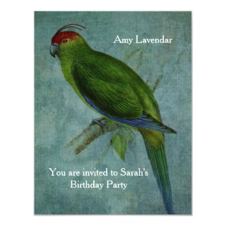 Parrot Fashion 4.25x5.5 Paper Invitation Card