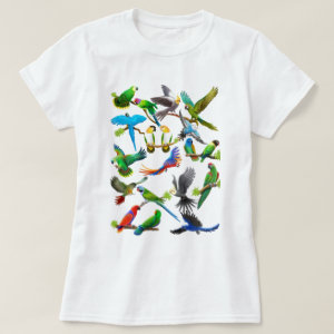 Parrots Galore T Shirt