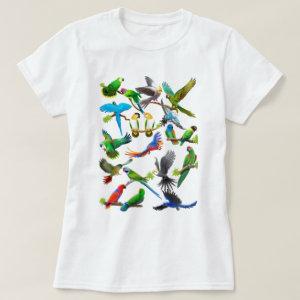 Parrots Galore T Shirt