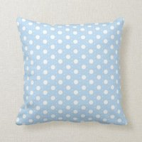 Pastel Blue Polka Dot Pattern Throw Pillow   Zazzle