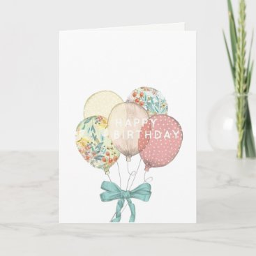 Pastel Colours Birthday Card